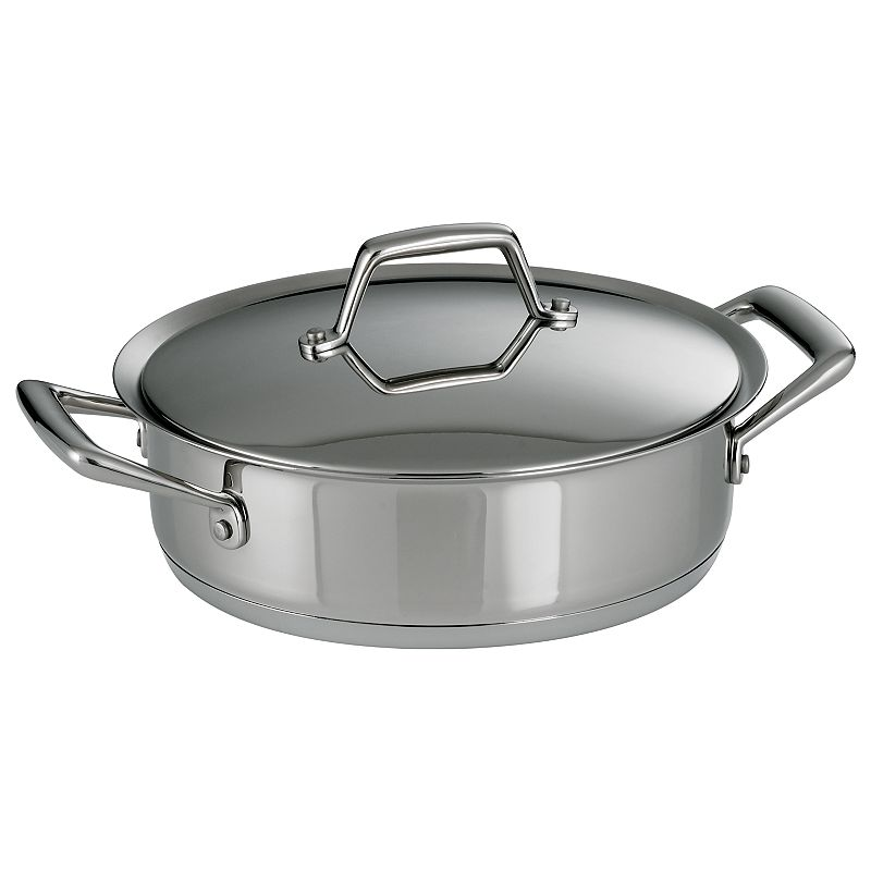 Tramontina Prima 3-qt. Stainless Steel Tri-Ply Covered Casserole Dish