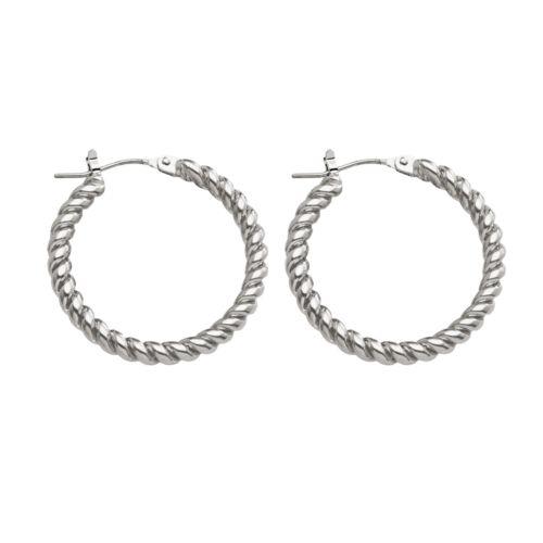 Chaps Twist Hoop Earrings