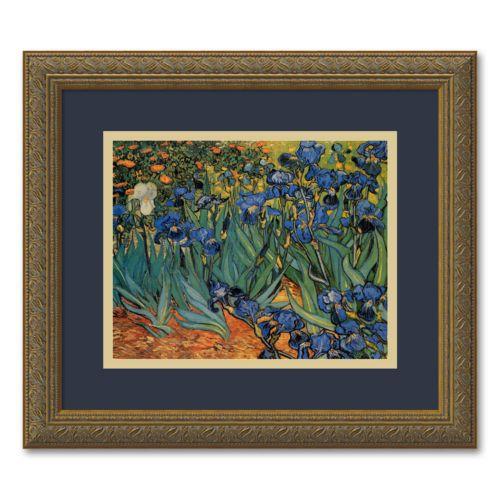 Les Irises Framed Wall Art