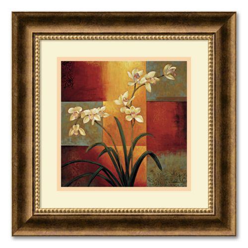 White Orchid Framed Wall Art