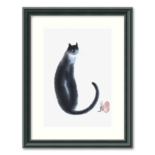 Chinese Cat II Framed Wall Art