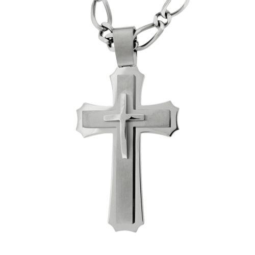 Stainless Steel Cross Pendant - Men