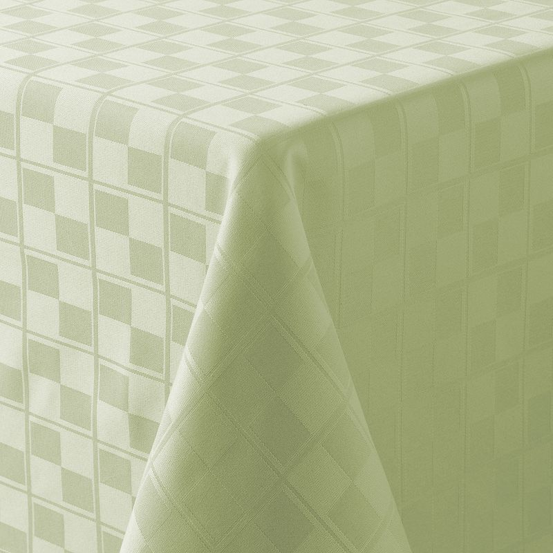 Food Network™ Stain-Resistant Microfiber Check Tablecloth - 90'' Round