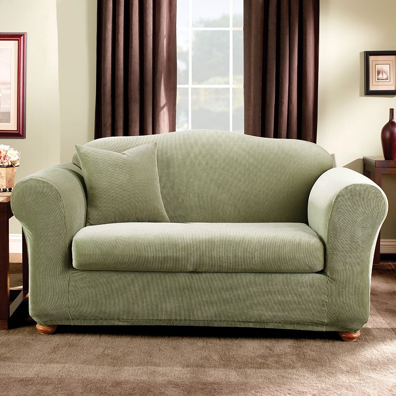 sure fit striped sofa slipcover