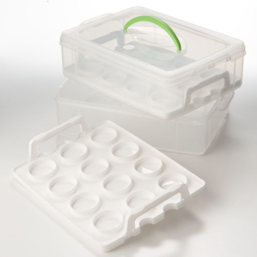 Food Network™ 2-Layer Cookie and Cupcake Carrier