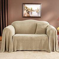Sure Fit™ Plush Sofa Throw Cover