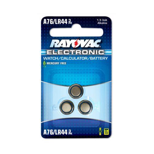 Rayovac 3-pk. A76/LR44 Button-Cell Alkaline Watch Batteries