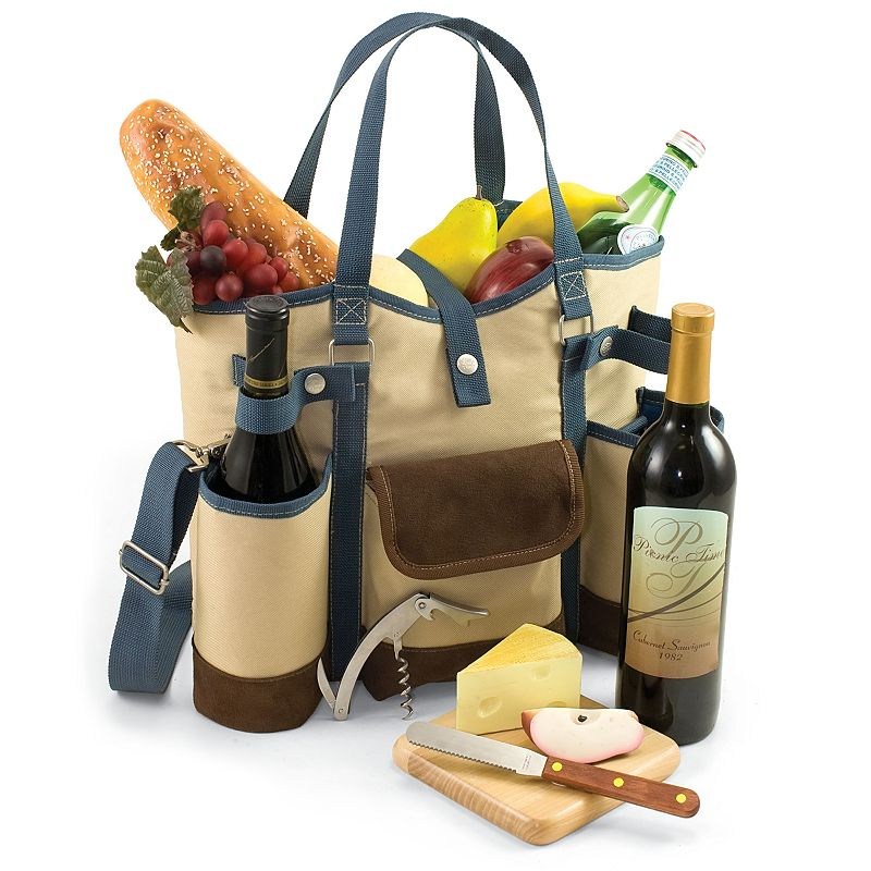 Picnic Time Wine Country Wine Tote