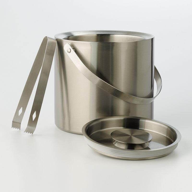 Food Network™ Double Wall Ice Bucket with Tongs