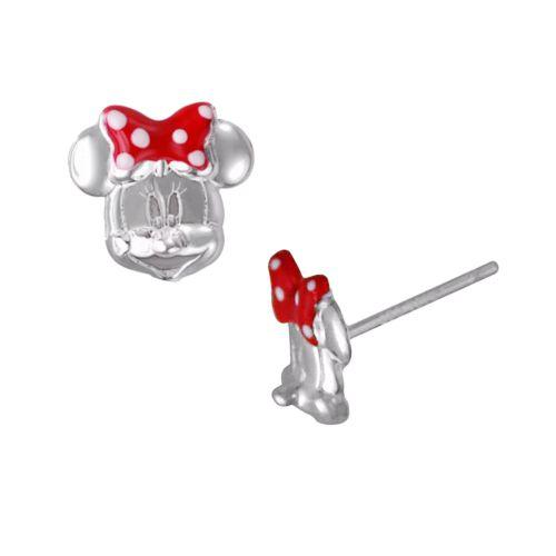 Disney Minnie Mouse Sterling Silver Stud Earrings - Kids