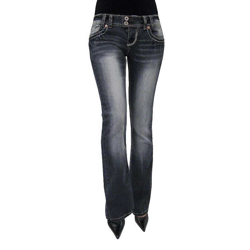 Juniors' Angels Flare Jeans