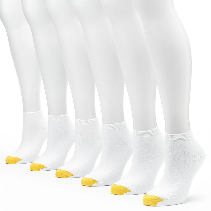GOLDTOE 6-pk. Flat-Knit Quarter Socks