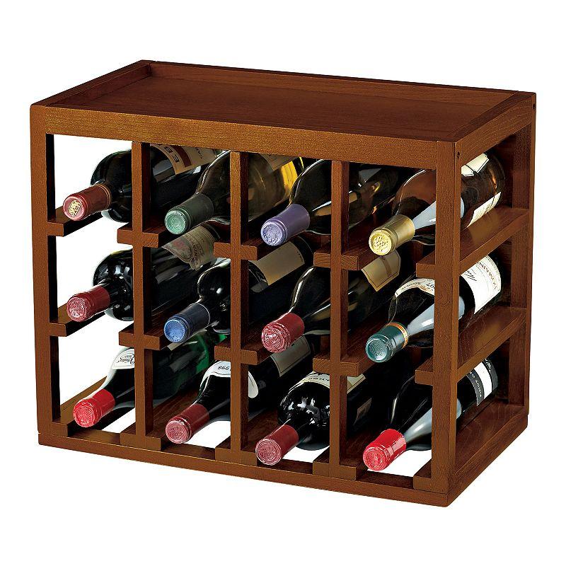 Wine Enthusiast 12-Bottle Stackable Wine Rack