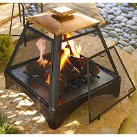 Pagoda Copper Fire Pit