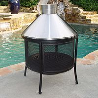 Stainless Steel Dome Fire Pit - Outdoor
