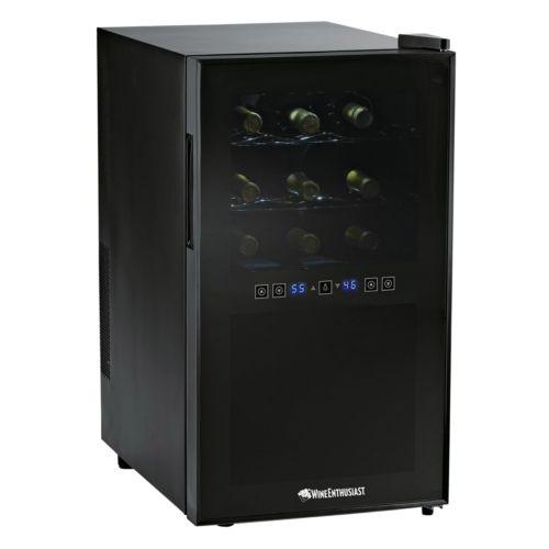 Wine Enthusiast Silent 18-Bottle Touchscreen Wine Refrigerator