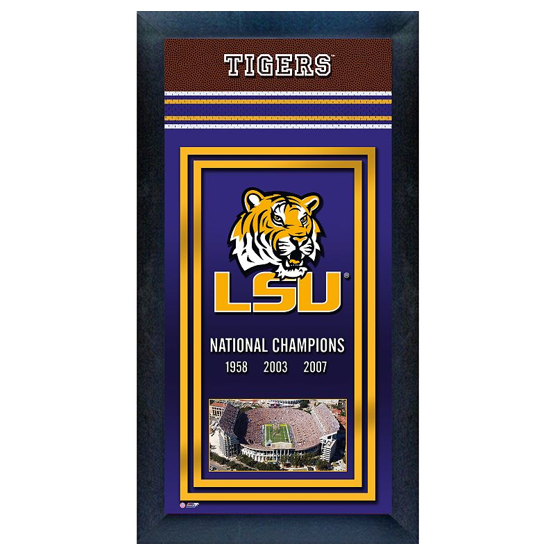 LSU Tigers National Champions Framed Wall Art