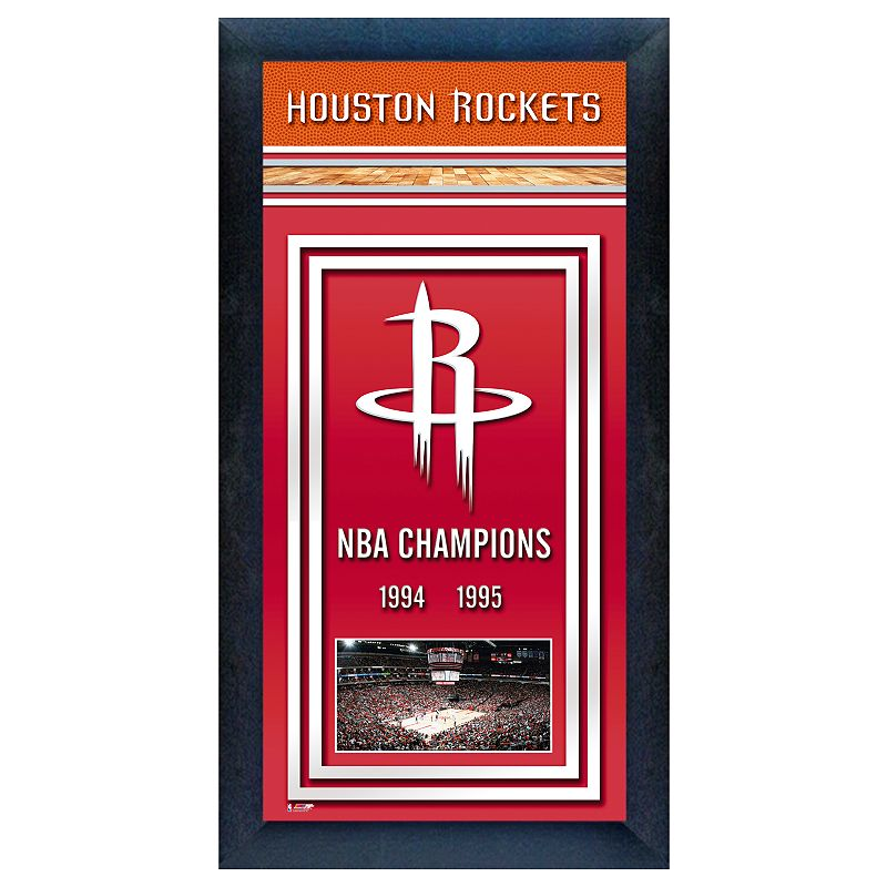 Houston Rockets Championship Roster: Nba Art Wall Decor