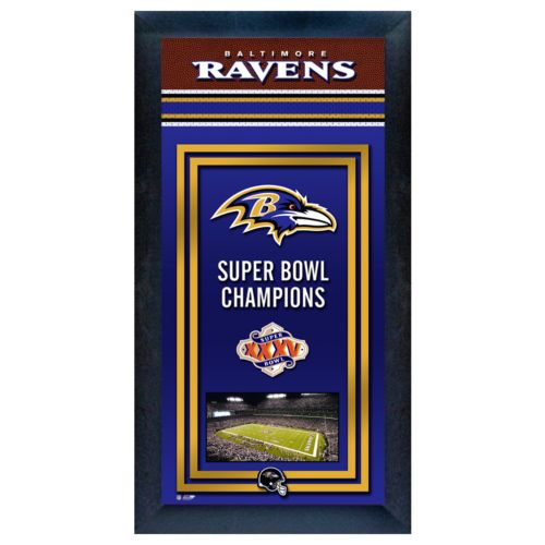 Baltimore Ravens Super Bowl Champions Framed Wall Art