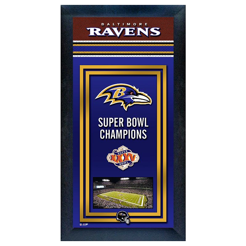 Baltimore Ravens Super Bowl Champions Framed Wall Art