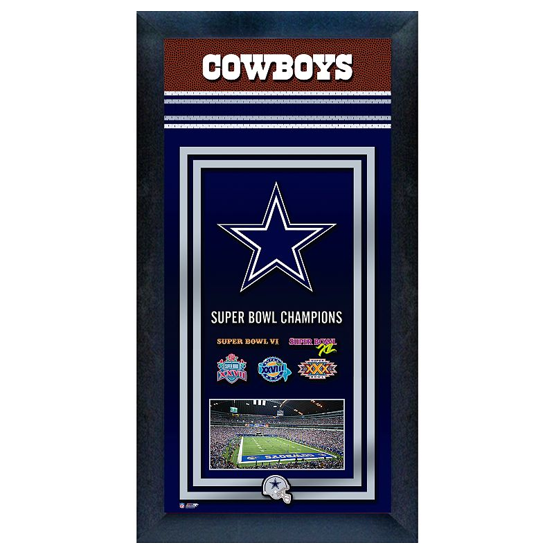Dallas Cowboys Super Bowl Champions Framed Wall Art