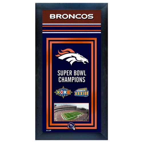 Denver Broncos Super Bowl Champions Framed Wall Art