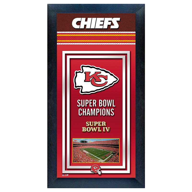 Kansas City Chiefs Super Bowl Champions Framed Wall Art