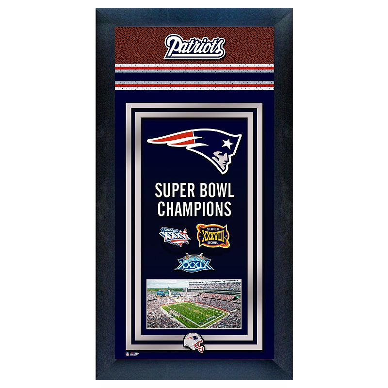 New England Patriots Super Bowl Champions Framed Wall Art