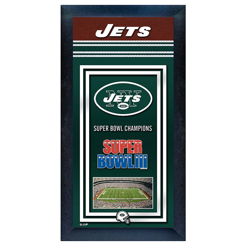 New York Jets Super Bowl Champions Framed Wall Art