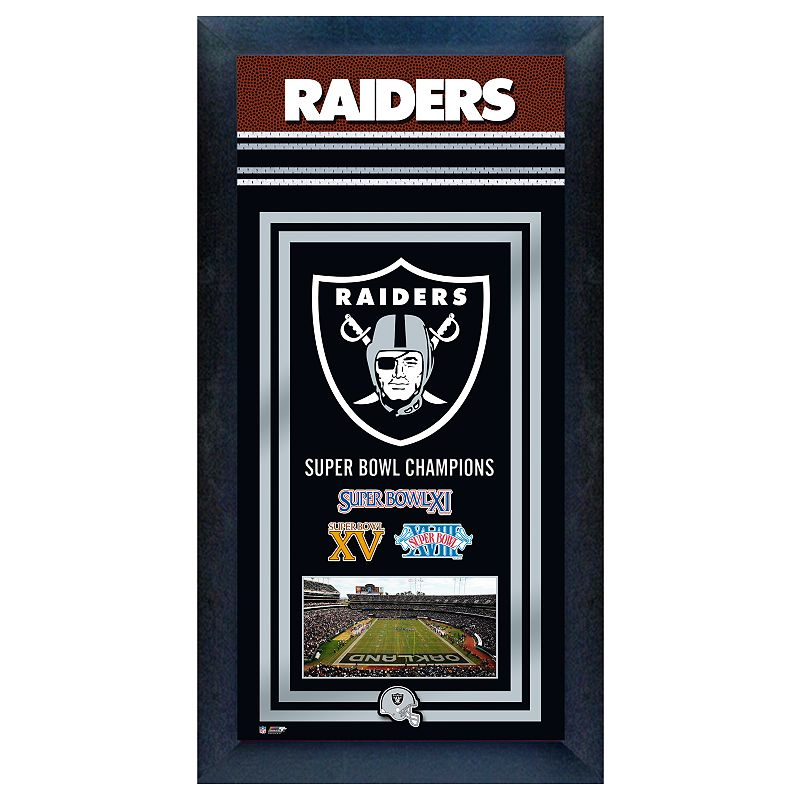 Oakland Raiders Super Bowl Champions Framed Wall Art