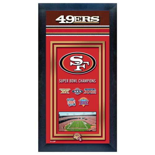 San Francisco 49ers Super Bowl Champions Framed Wall Art