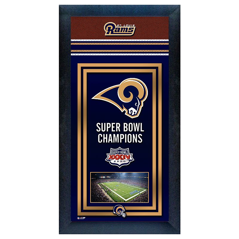 St. Louis Rams Super Bowl Champions Framed Wall Art