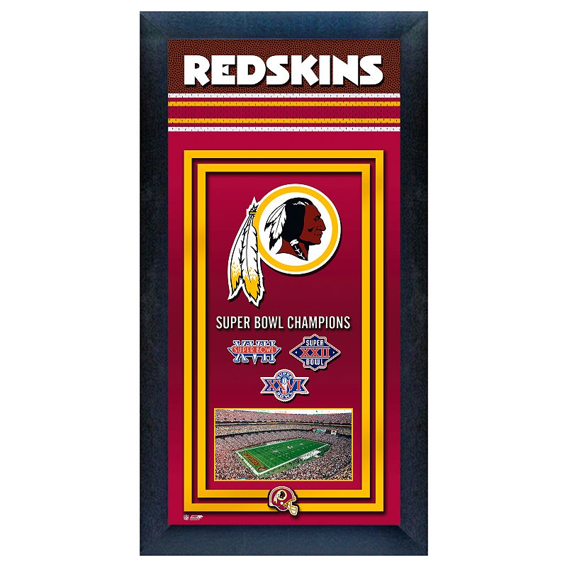 Washington Redskins Super Bowl Champions Framed Wall Art