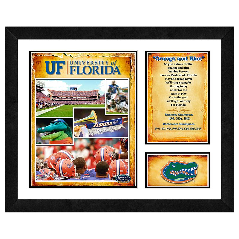 Florida Gators Milestones and Memories Framed Wall Art