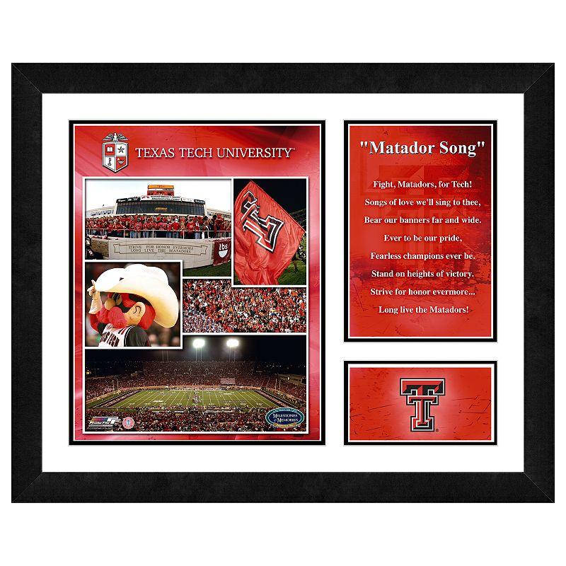 Texas Tech Red Raiders Milestones and Memories Framed Wall Art
