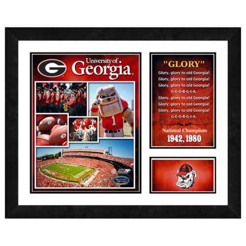 Georgia Bulldogs Milestones and Memories Framed Wall Art