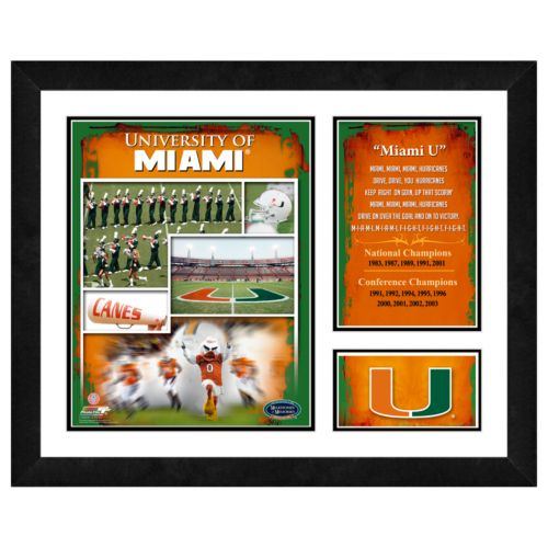 Miami Hurricanes Milestones and Memories Framed Wall Art