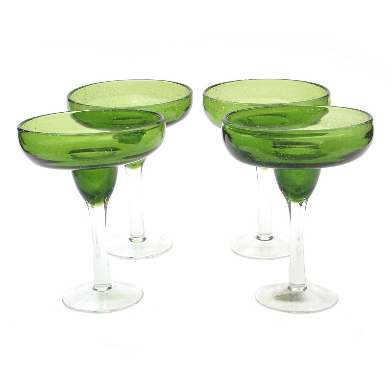 Certified International Bubble 4-pc. Margarita Glass Set