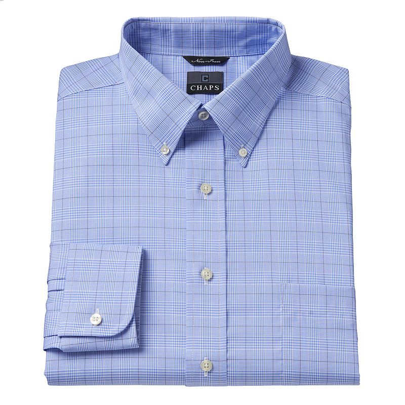 Men 39 s chaps classic fit no iron dress shirt dealtrend for No iron shirts mens