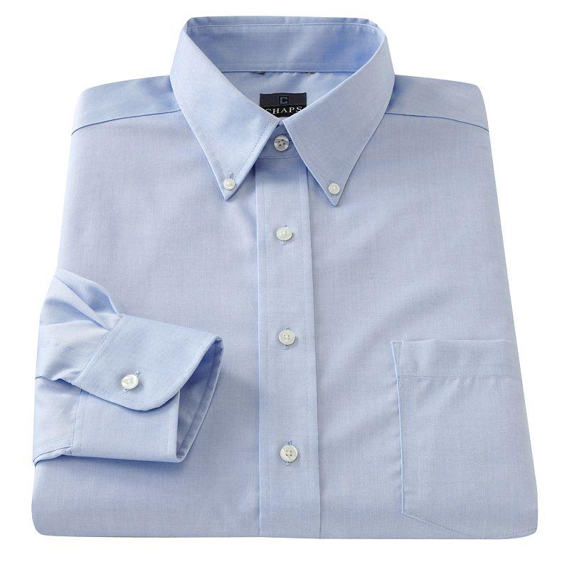 Men 39 s chaps classic fit no iron dress shirt dealtrend for Men s no iron dress shirts