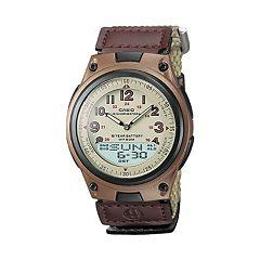 Casio Men's Illuminator World Time Analog & Digital Databank Chronograph Watch AW80V-5BV