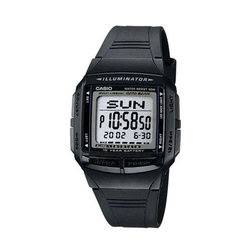 Casio Illuminator Multilingual Databank and Chronograph Digital Watch - Men