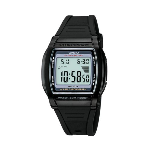 Casio Watch - Men's Black Resin Digital Chronograph