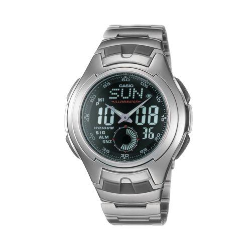 Casio Men's Illuminator Sport Stainless Steel Analog & Digital Chronograph Watch