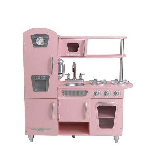 Retro Kids Kitchen: KidKraft Pink Retro Kitchen