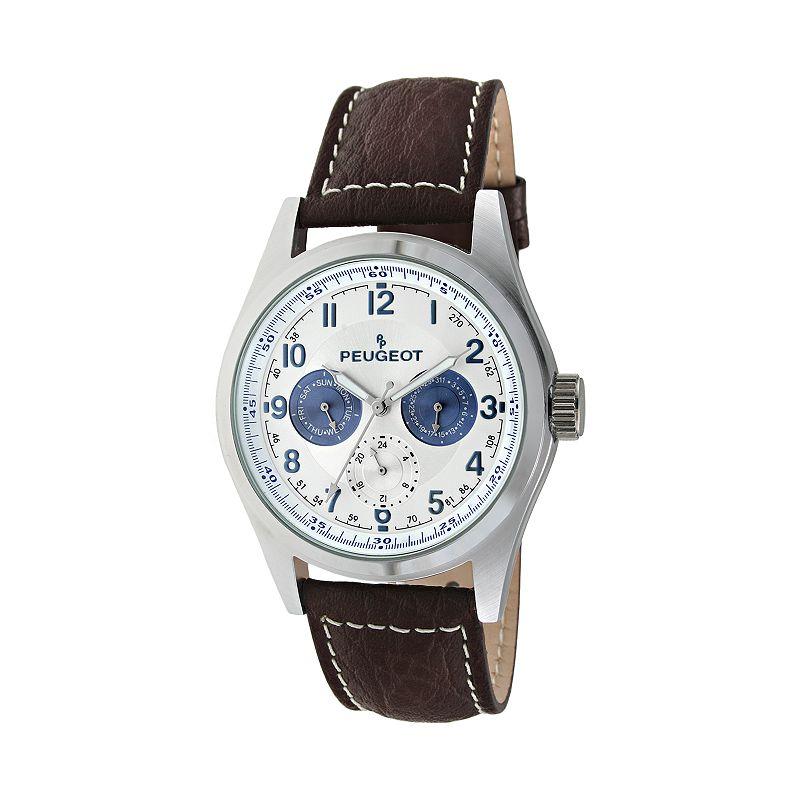 Peugeot Men's Leather Watch - 2028