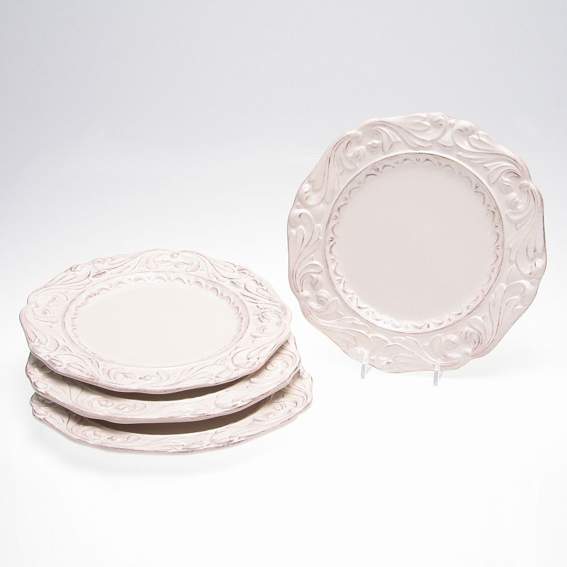 Certified International Firenze Ivory 4-pc. Dessert Plate Set