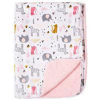 Just Born Animal Pink Velboa Blanket