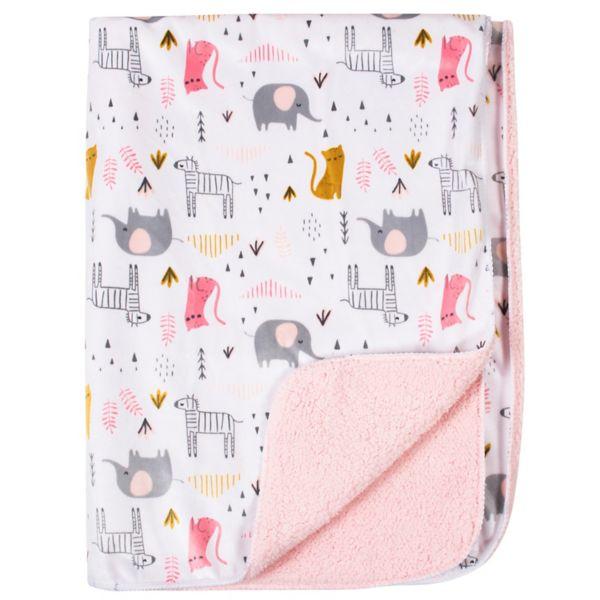 Just Born Bunny & Cloud Velboa Blanket