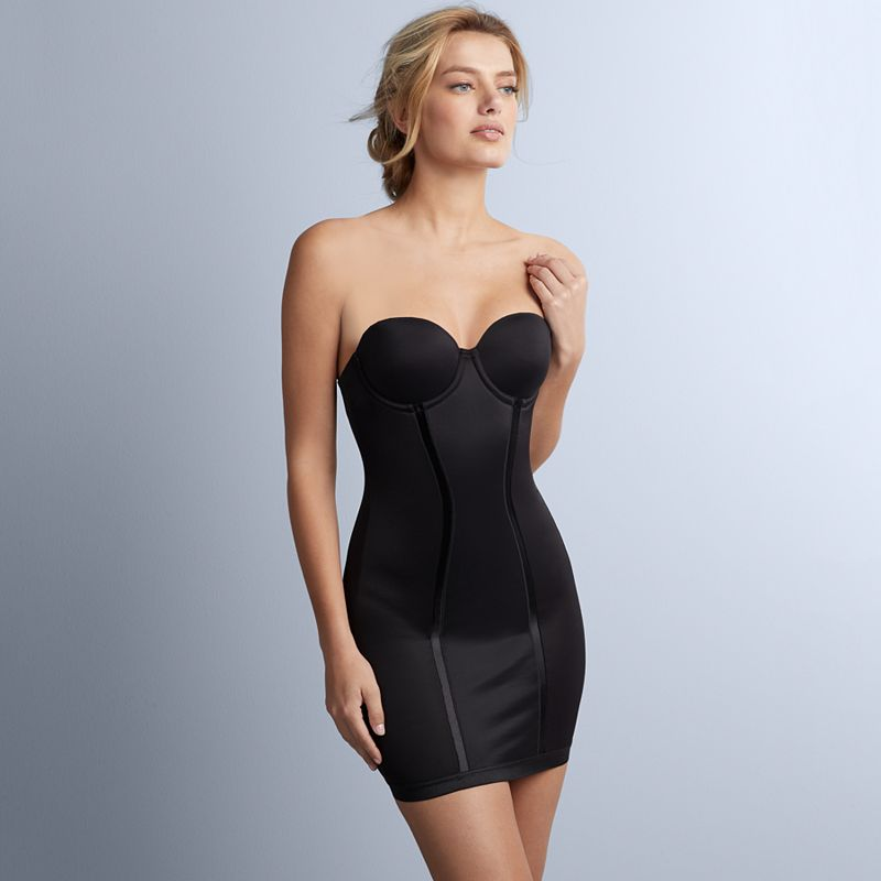 Maidenform Shapewear Easy-Up Firm Control Strapless Slip 2304 - Women's
